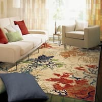 Carolina Weavers Celebration Collection Autumn Trees Beige Area Rug - 7'10 x 10'10