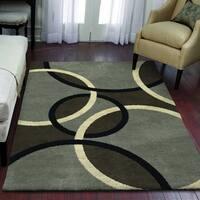 """Carolina Weavers Eden Collection Orbs Gray Area Rug (5'3 x 7'6) - 5'3"""" x 7'6"""""""