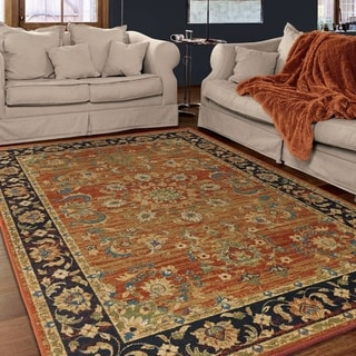 """Berkley Collection Twisted Tradition Brick Olefin Area Rug (5'3"""" x 7'6"""")"""
