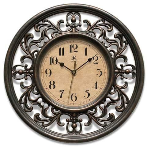Copper Grove Kaffir 12-inch Round Clock - N/A