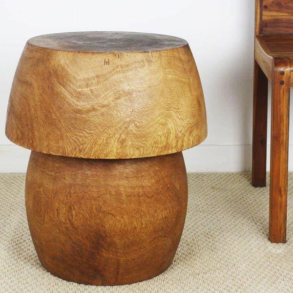 Bert Mushroom Storage Coffee Table: Shop Handmade Mango HED Mushroom Handmade Light Teak Tone