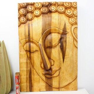 Haussmann Oak Oil Pacceka Buddha Panel (Thailand)