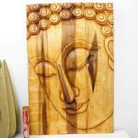 Handmade Haussmann Oak Oil Pacceka Buddha Panel (Thailand)