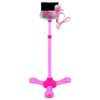 Velocity Toys Mini Star Music Show Toy Stand Up Microphone Play Set - Pink