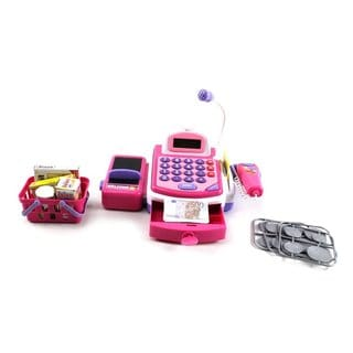 Kx My First Cash Register Pretend Play Battery Operated Toy Cash Register