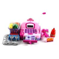 Velocity Toys Hyl Fun Educational Pretend Play Battery Operated Toy Cash Register