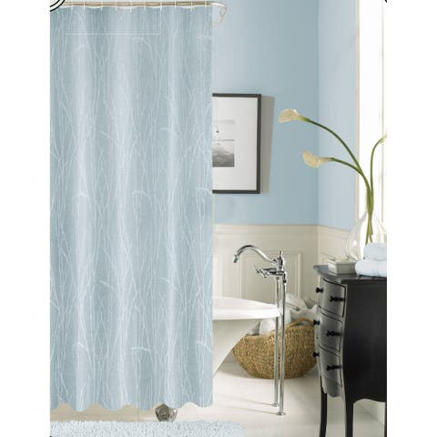 Woodbury Solid Pattern Polyester Shower Curtain
