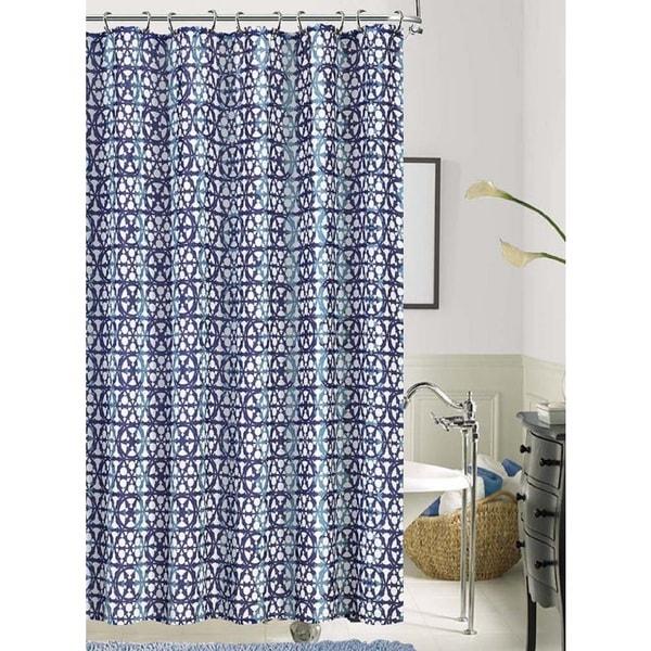 Iron Gate Geometric Polyester Shower Curtain