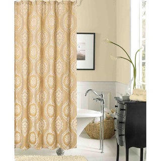 Monaco Damask Polyester Shower Curtain