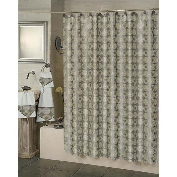 Twilight Solid Pattern Polyester Shower Curtain