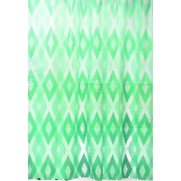 Dainty Home Geo Texture Plastic Shower Curtain 13-piece Set