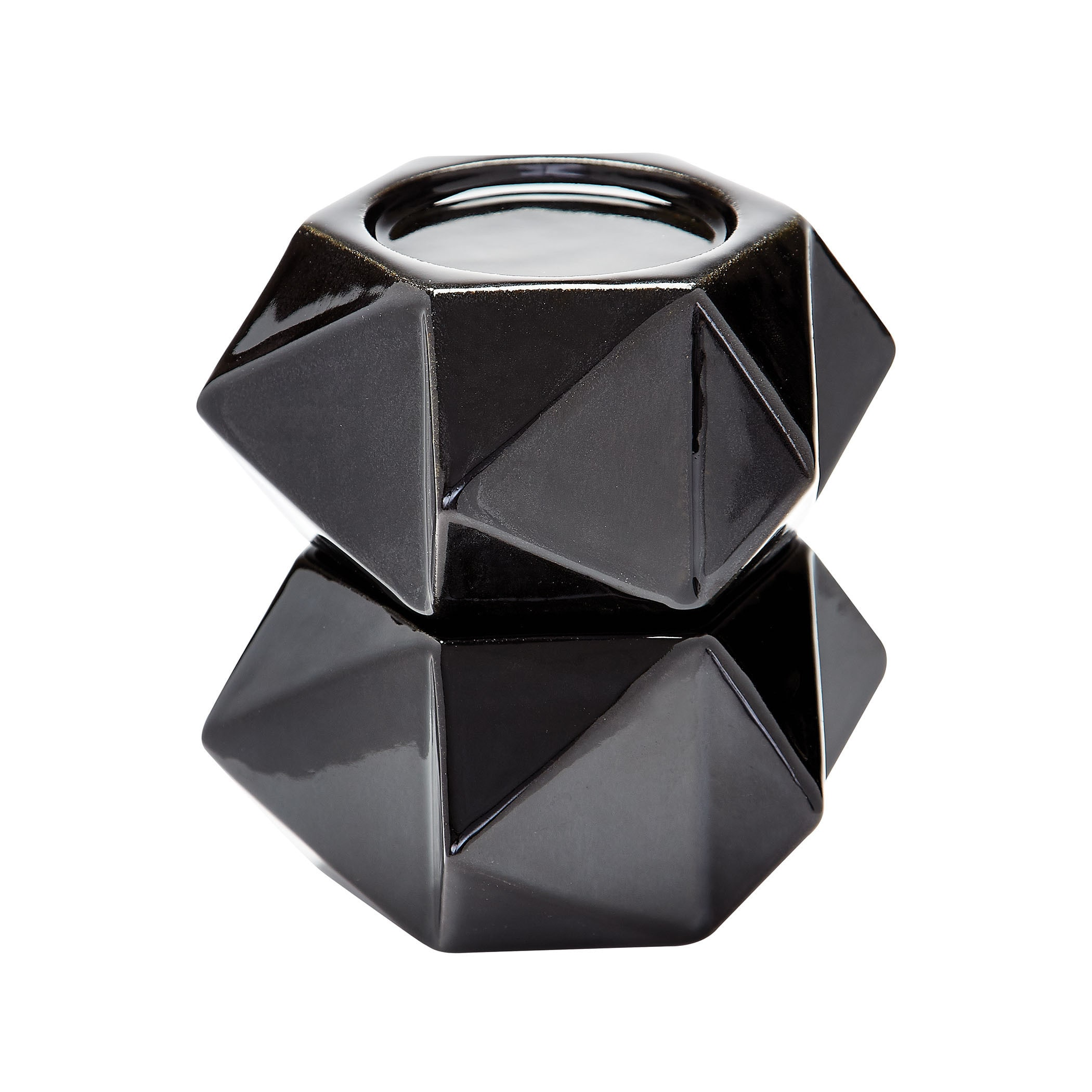 Dimond Home Black Large Ceramic Star Candle Holders (Set ...