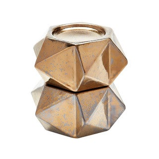Dimond Home Gold Large Ceramic Star Candle Holders (Set of 2)