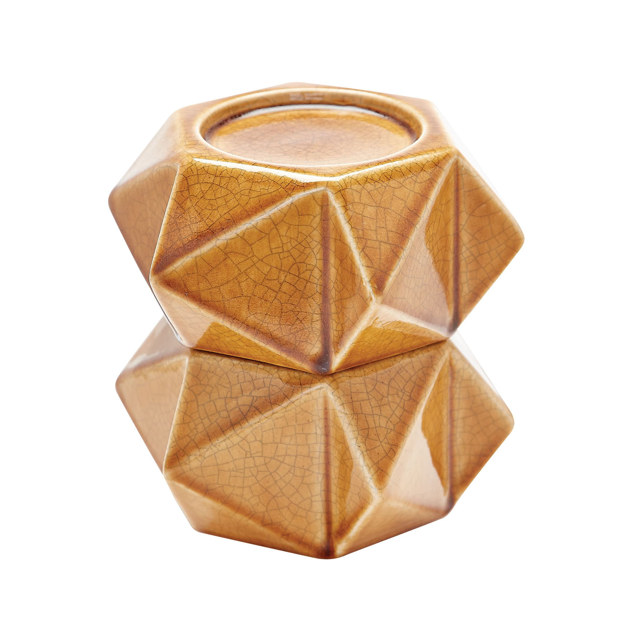 Dimond Home Honey Large Ceramic Star Candle Holders (Set ...