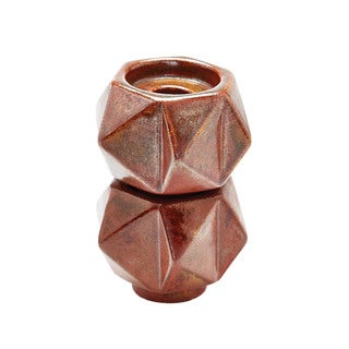 Dimond Home Russet Small Ceramic Star Candle Holders (Set of 2)