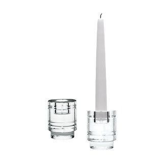 Dimond Home Windowpane Crystal Column Candleholders (Set of 2)
