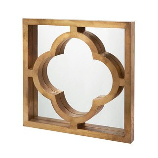 Dimond Home Quatrefoil Brass Clad Mirror