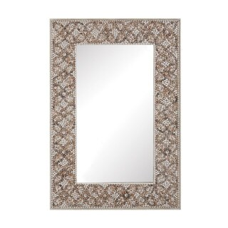 Dimond Home Cross Hatch Shell Mirror