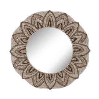 Dimond Home Round Shell Mirror