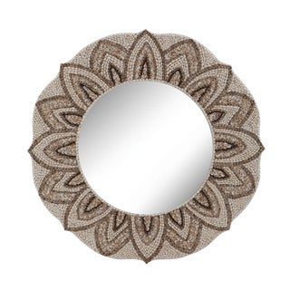 Dimond Home Round Shell Mirror