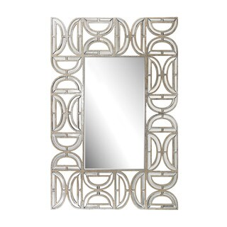 Dimond Home Rectangular Wall Mirror With D Pattern Frame