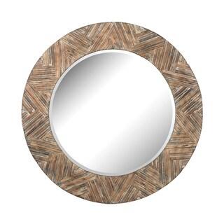Dimond Home Large Round Wicker Mirror - 48 x 48