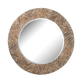 Dimond Home Large Round Wicker Mirror