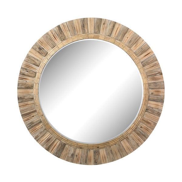 Dimond Home Oversized Round Wicker Mirror