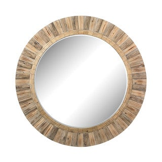 Dimond Home Oversized Round Wicker Mirror