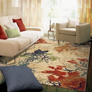 Carolina Weavers Celebration Collection Autumn Trees Beige Area Rug (5'3 x 7'6)