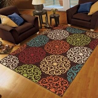 Carolina Weavers Cocamo Collection Plebian Brown Area Rug (5'2 x 7'6)