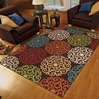 Carolina Weavers Cocamo Collection Plebian Brown Area Rug - 5'2 x 7'6