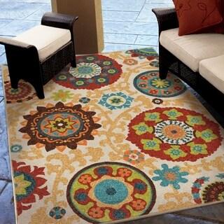 Carolina Weavers Indoor/Outdoor Santa Barbara Collection Tyro Multi Area Rug (3'10 x 5'5)