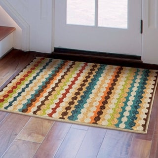 "Aria Collection Nik Nak Gemstone Olefin Accent Rug (2'5"" x 3'9"")"