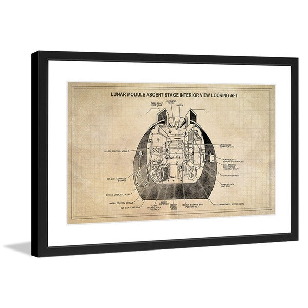 "Marmont Hill - ""Ascent Stage"" Licensed Smithsonian Framed Art Print"