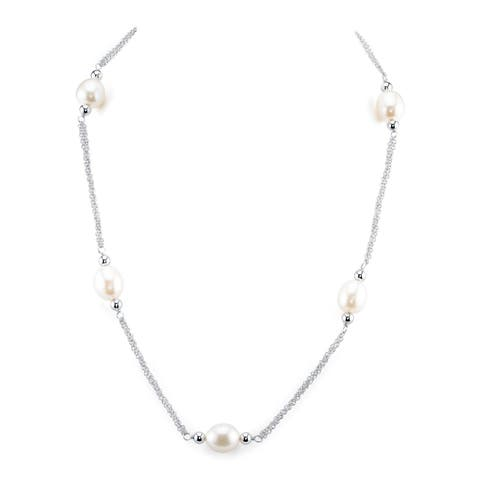 Radiance Pearl White Freshwater Pearl Necklace (9mm)