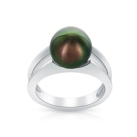 Radiance Pearl Tahitian South Sea Pearl Ring (10mm)