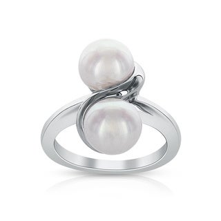 Radiance Pearl Double White Freshwater Pearl Ring (7mm)