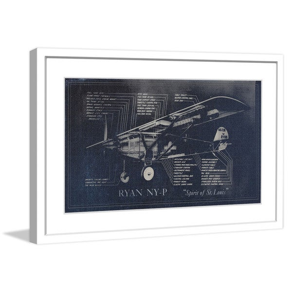 "Marmont Hill - ""Spirit of St. Louis"" Licensed Smithsonian Framed Art Print"