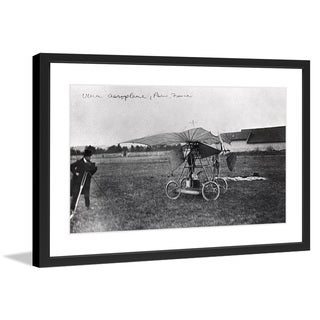 "Marmont Hill - ""Aeroplane Paris"" Licensed Smithsonian Framed Art Print"