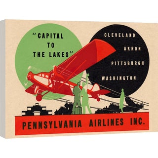 "Marmont Hill - ""Pennsylvania Airlines"" Licensed Smithsonian Print on Canvas"