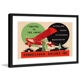 "Marmont Hill - ""Pennsylvania Airlines"" Licensed Smithsonian Framed Art Print"
