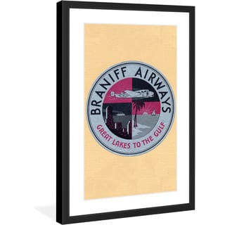 "Marmont Hill - ""Braniff Airlines"" Licensed Smithsonian Framed Art Print"