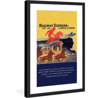 "Marmont Hill - ""Railway Express"" Licensed Smithsonian Framed Art Print"