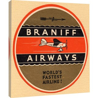 "Marmont Hill - ""Braniff Airlines 2"" Licensed Smithsonian Print on Canvas"