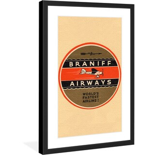 "Marmont Hill - ""Braniff Airlines 2"" Licensed Smithsonian Framed Art Print"
