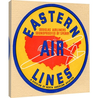 "Marmont Hill - ""Eastern Airlines"" Licensed Smithsonian Print on Canvas"