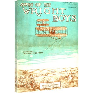 """Marmont Hill - """"Wright Brothers"""" Licensed Smithsonian Print on Canvas"""