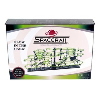 SpaceRail Level 5 Marble Roller Coaster SpaceWarp Glow in Dark Illuminate