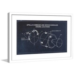 "Marmont Hill - ""Engine"" Licensed Smithsonian Framed Art Print - Multi"
